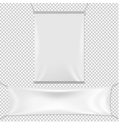 white banners set vector image