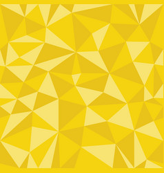 yellow geometric seamless pattern from triangles vector image