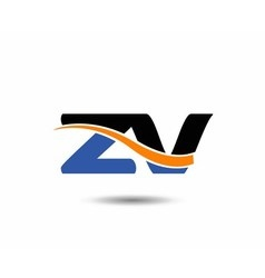 ZV company linked letter logo vector image