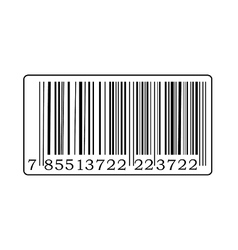 Black barcode vector image vector image