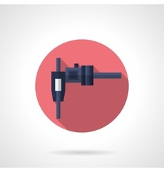 Callipers flat color round icon vector image