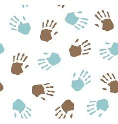seamless pattern - imprint hands vector image