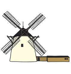 Stone windmill vector image