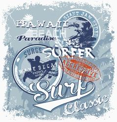 surf soul hawaii crack vector image