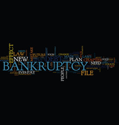 The new bankruptcy law will soon be in effect vector