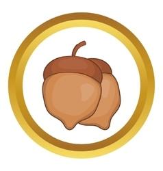 Acorns icon vector image