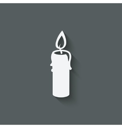 candle design element vector image vector image