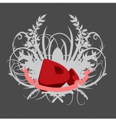 dj splash music background vector image vector image