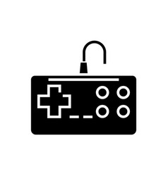 gamepad icon black sign on vector image vector image