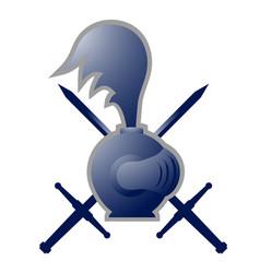 medieval warrior symbol vector image vector image