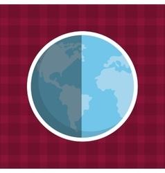 planet earth world vector image