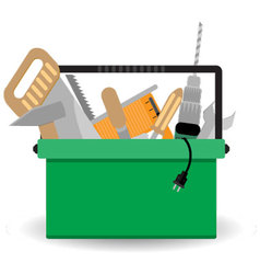 Toolbox with instrument vector image vector image