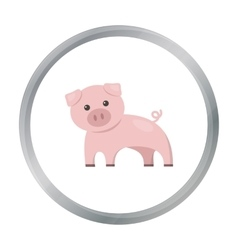 Pig cartoon icon for web and mobile vector image vector image