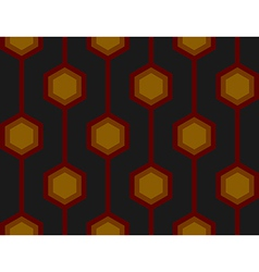 Retro Hexagons Red Seamless Tile vector image vector image