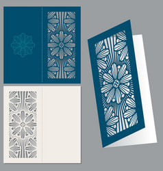 vintage wedding invitation postcard envelope vector image vector image