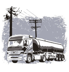 Liquid truck vector image