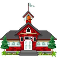 school building design vector image vector image