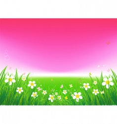 sunset field vector image vector image