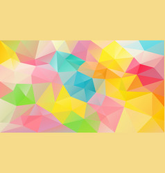 Abstract irregular polygonal background variegated vector