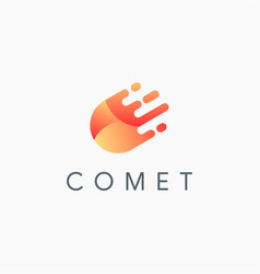 abstract modern comet fall logo icon template vector image