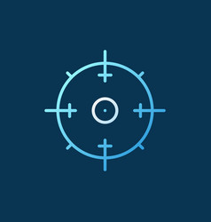 aim concept outline icon on dark background vector image