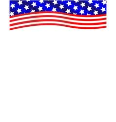 American flag wave decoration frame vector