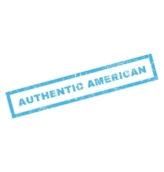 Authentic American Rubber Stamp vector image