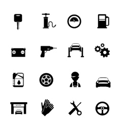 Auto Service Flat Icons Set vector image