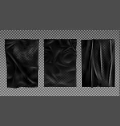 Black wet paper bad glued wheatpaste set isolated vector