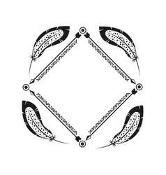 Boho style design vector