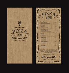 brochure vintage menu restaurant food template vector image