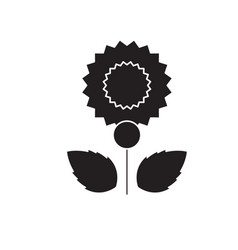 carnation black concept icon carnation vector image