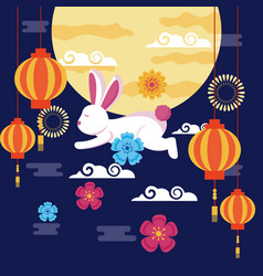 celebration mid autumn festival card vector image
