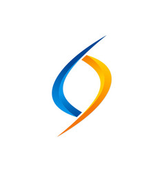 Circle infinity logo vector