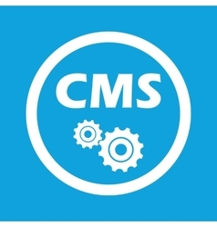 CMS settings sign icon vector