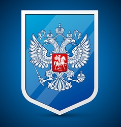 Coat arms russian federation vector