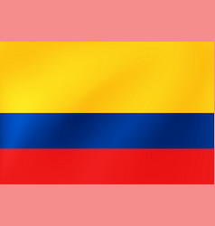 Colombia flag national colombian symbol for of vector