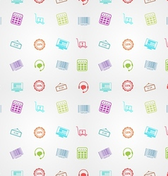 Colored background for online sales vector image