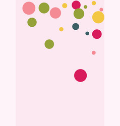 colorful polka dots on pink background vector image