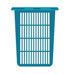 colorful silhouette of tall laundry basket without vector image