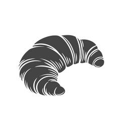 Croissant glyph icon vector