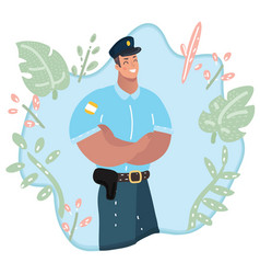 cute policeman character professional vector image