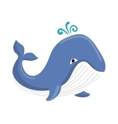 Cute whale cartoon vector image