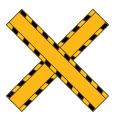 Do not cross yellow ribbon vector
