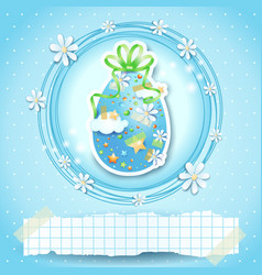 easter card with easter egg and copy space vector image