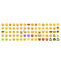 Emoticon set emoji pack vector