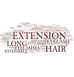 Extensible word cloud concept vector