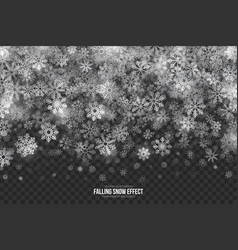 Falling snow 3d effect vector