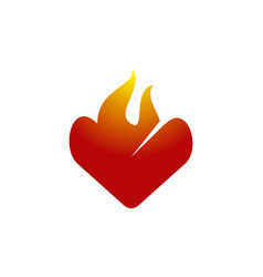 fire love logo design template vector image