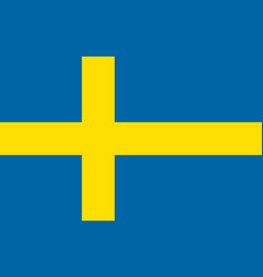 flag of sweden national symbol of the state vector image